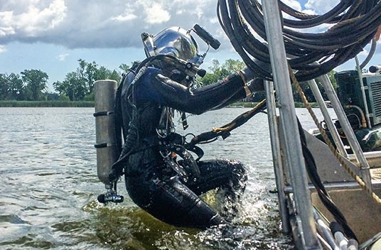 dive careers, underwater construction career, dive inspections, brennan