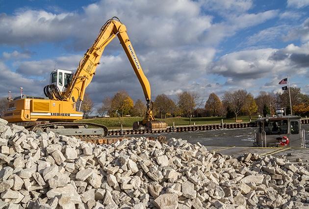 rip rap, scour control, erosion control, rock placement, railroad bridge scour protection