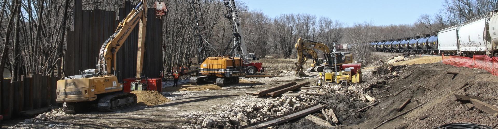 derailment response, railroad construction, railroad cleanup, derailment cleanup, environmental response, railroad contractor