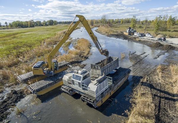 railroad derailment cleanup, railroad environmental services, railroad contractor, environmental response, marsh cleanup, wetland remediation
