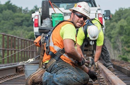 railroad construction careers, railroad contractor, marine professional, bridge building, bridge repair