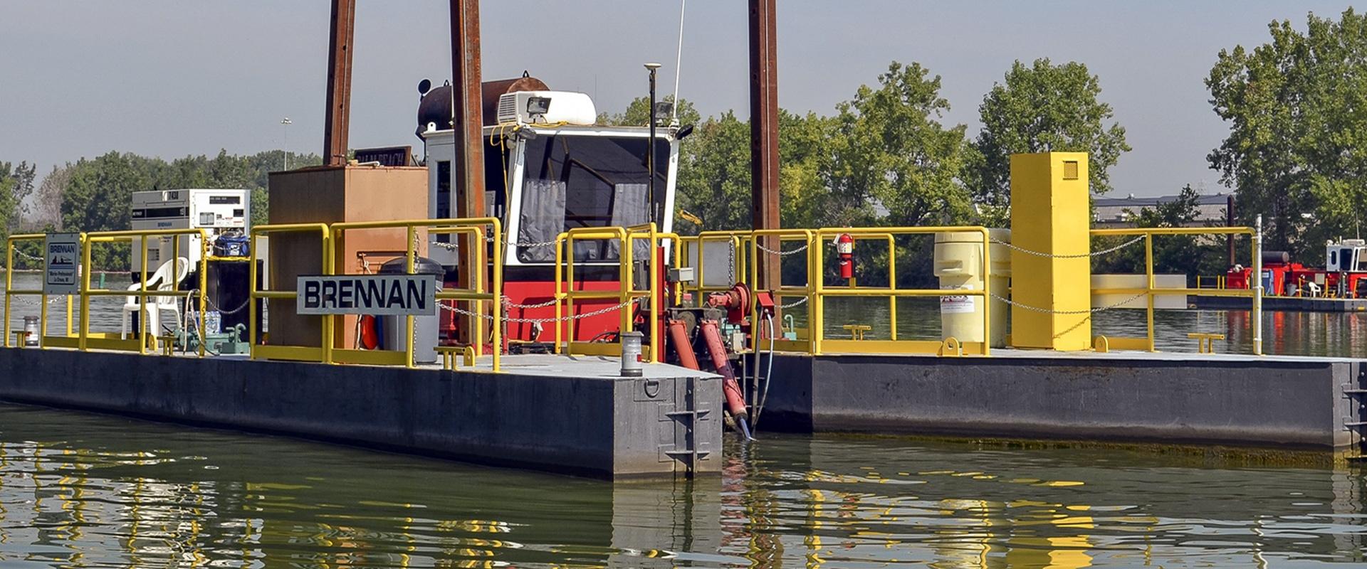 hydraulic dredging, environmental dredging, remedial dredging, brennan