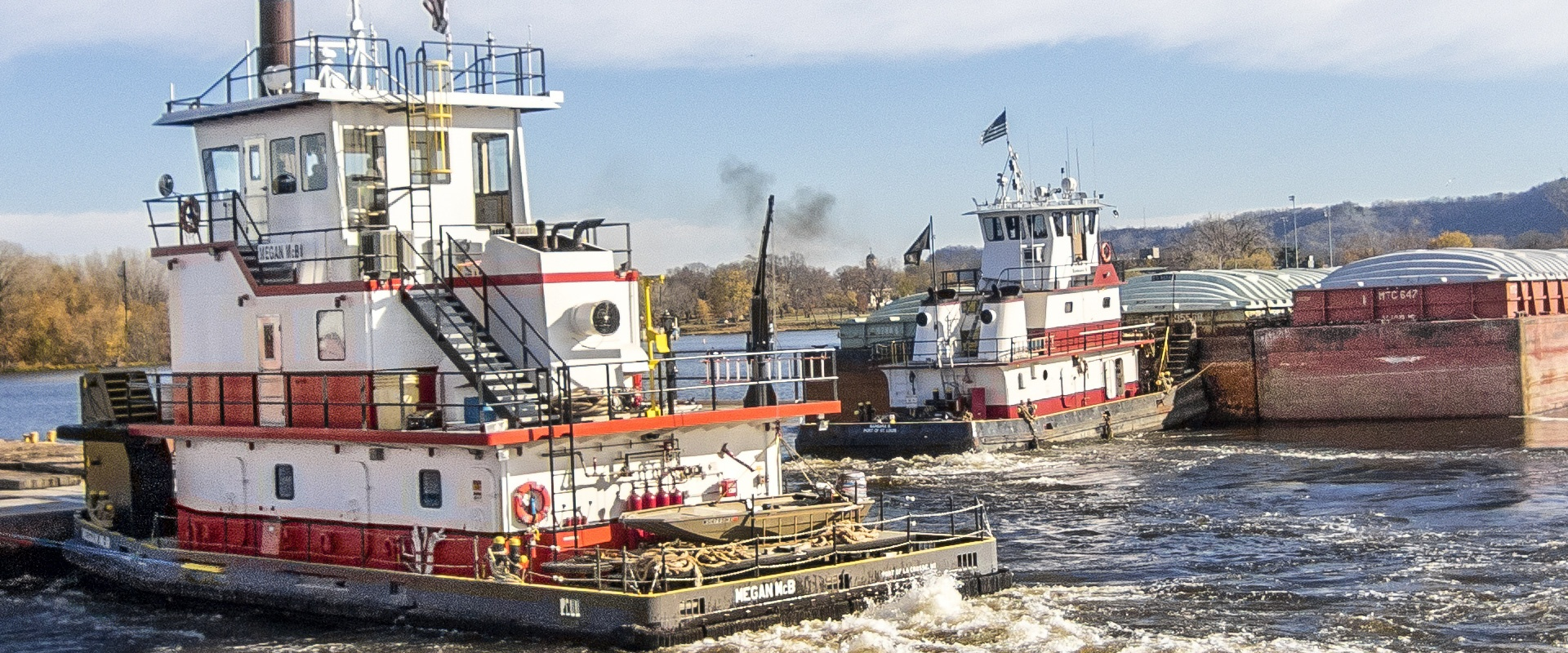 harbor management, barge transportation, inland waterways, marine construction, mississippi river construction, switching and fleeting