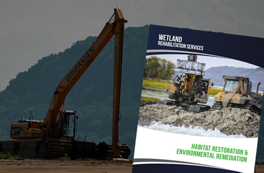 habitat restoration, brennan, wetland restoration, marsh excavation, marsh restoration